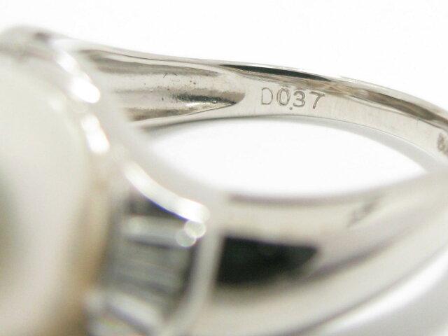 パール 真珠 ダイヤモンド リング 指輪