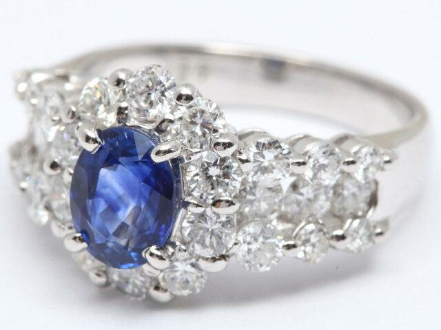 サファイア ダイアモンド リング 指輪