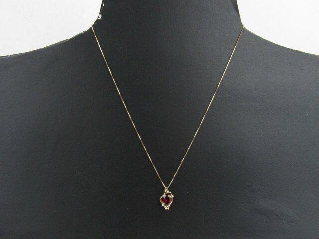 ガーネット ダイヤモンド ネックレス