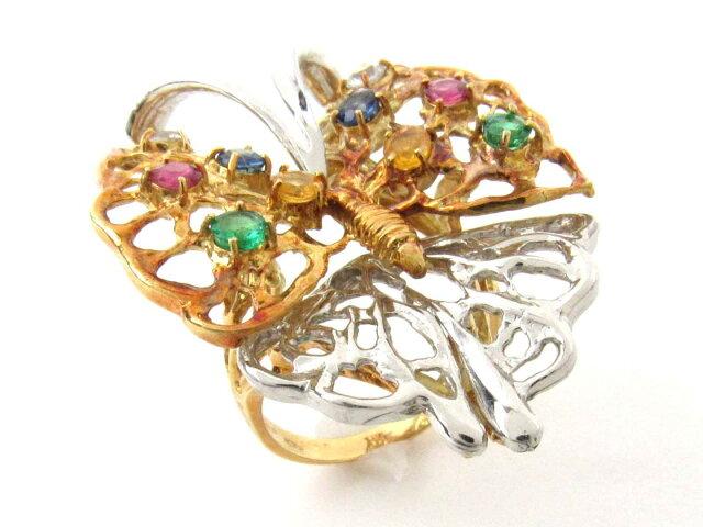 色石 ダイヤモンド リング 指輪