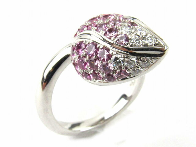 ピンクサファイア ダイヤモンド リング 指輪