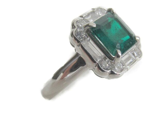 エメラルド ダイヤモンドリング 指輪