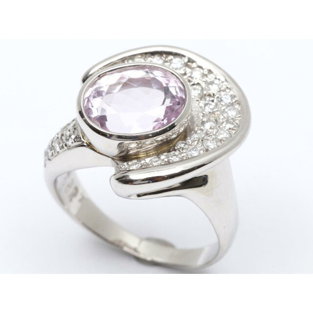 クンツァイト ダイヤモンド リング 指輪