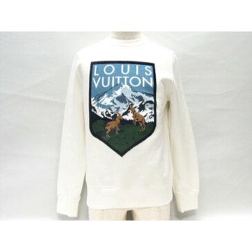 ルイヴィトン ナショナルパークスウェットシャツ メンズ コットン (94%) x レーヨン (6%) ホワイト (1A4JK x ) | LOUIS VUITTON ヴィトン ビトン ルイ・ヴィトン 衣類 ナショナルパークスウェットシャツ 新品 ブランドオフ BRANDOFF