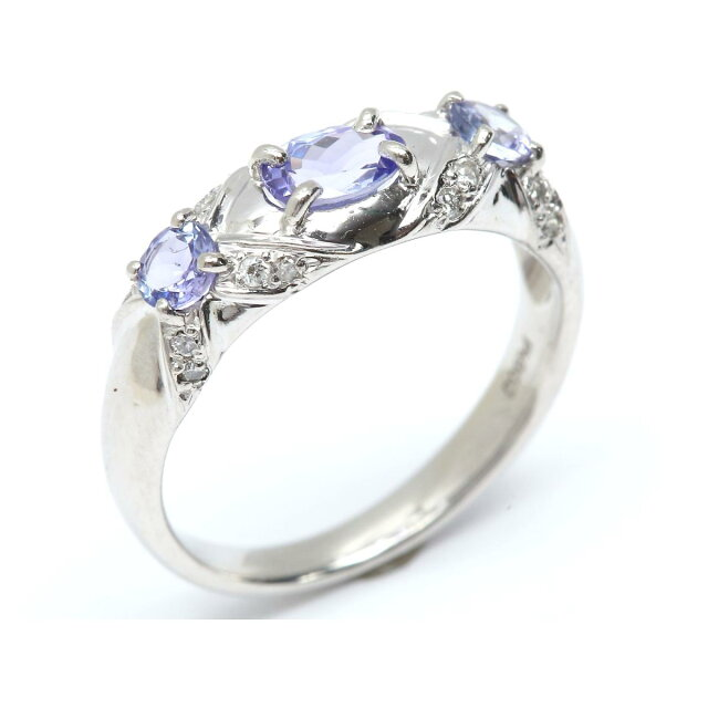 タンザナイトリング ダイヤモンド 指輪