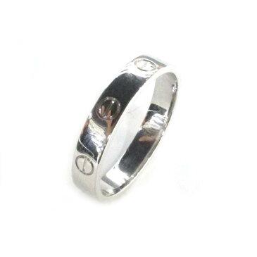 【中古】カルティエ ミニラブリング 指輪 メンズ レディース K18WG (750) ホワイトゴールド   Cartier リング K18 18K 18金 ミニラブリング 美品 ブランドオフ BRANDOFF