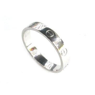 【中古】【送料無料】 カルティエ ミニラブリング 指輪 メンズ レディース K18WG (750) ホワイトゴールド | Cartier リング K18 18K 18金 ミニラブリング 美品 ブランドオフ BRANDOFF