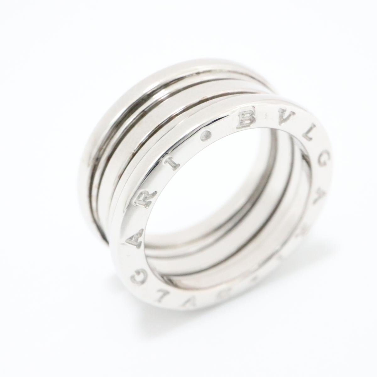 c0ac77d7b6c5 中古】 ブルガリ B-zero1 リング Sサイズ 指輪 メンズ レディース K18WG ...