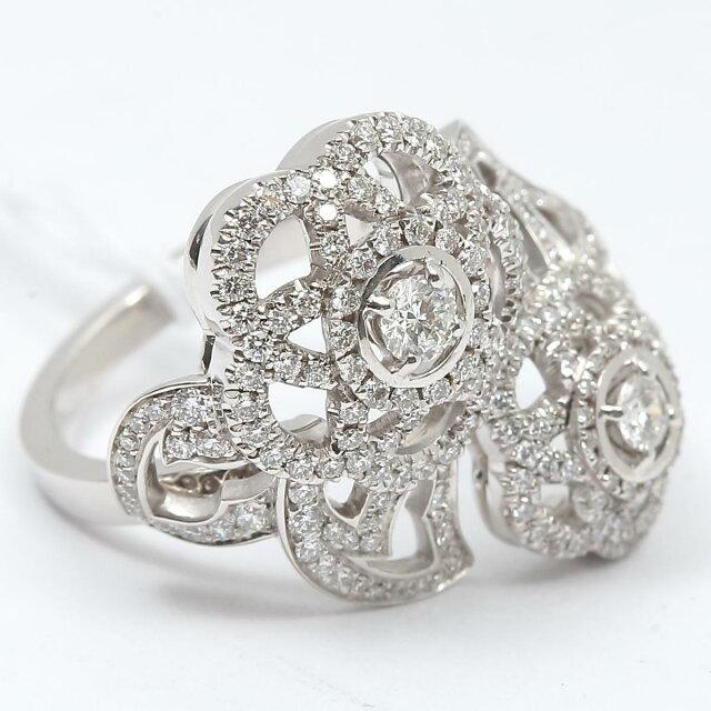 カメリア ダイヤモンド リング 指輪