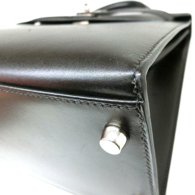 ケリー32 内縫い ショルダー付きハンドバッグ