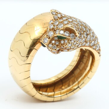 【中古】 カルティエ ダイヤモンド パンテール リング 指輪 レディース K18YG (750) イエローゴールド X ダイヤモンド   Cartier リング 18K K18 18金 美品 ブランドオフ BRANDOFF