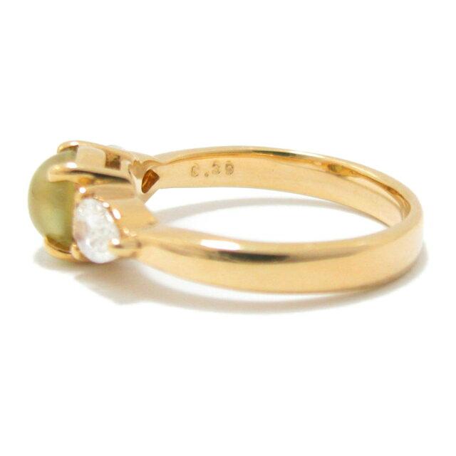 クリソベル・キャッツアイ ダイヤモンドリング リング 指輪