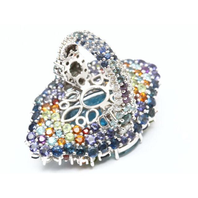 ブルートパーズ ダイヤモンド マルチ リング 指輪