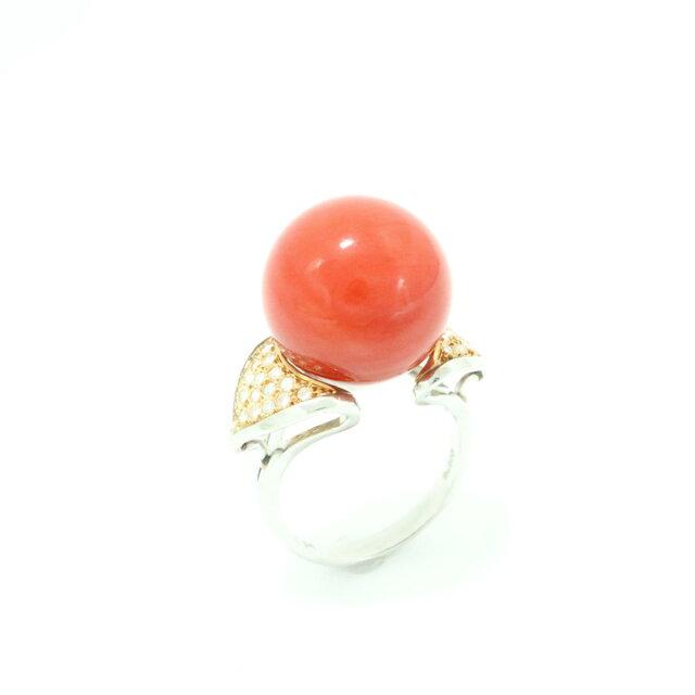 リング サンゴ 指輪