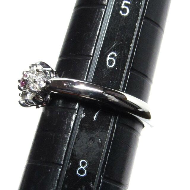 パープルダイヤモンド リング 指輪