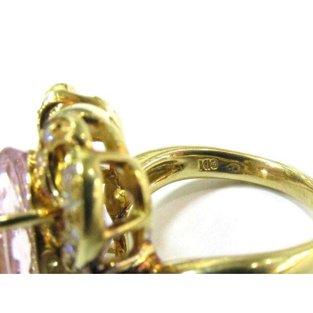 クンツァイトリング ダイヤモンド 指輪