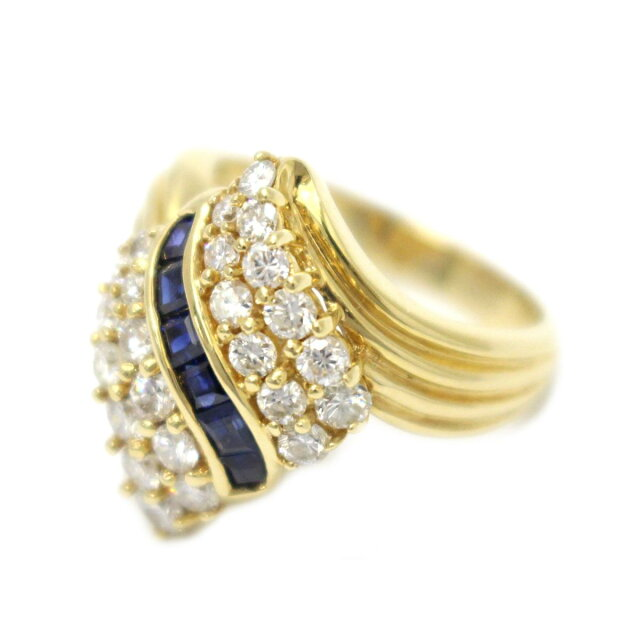 サファイア ダイヤモンド リング 指輪