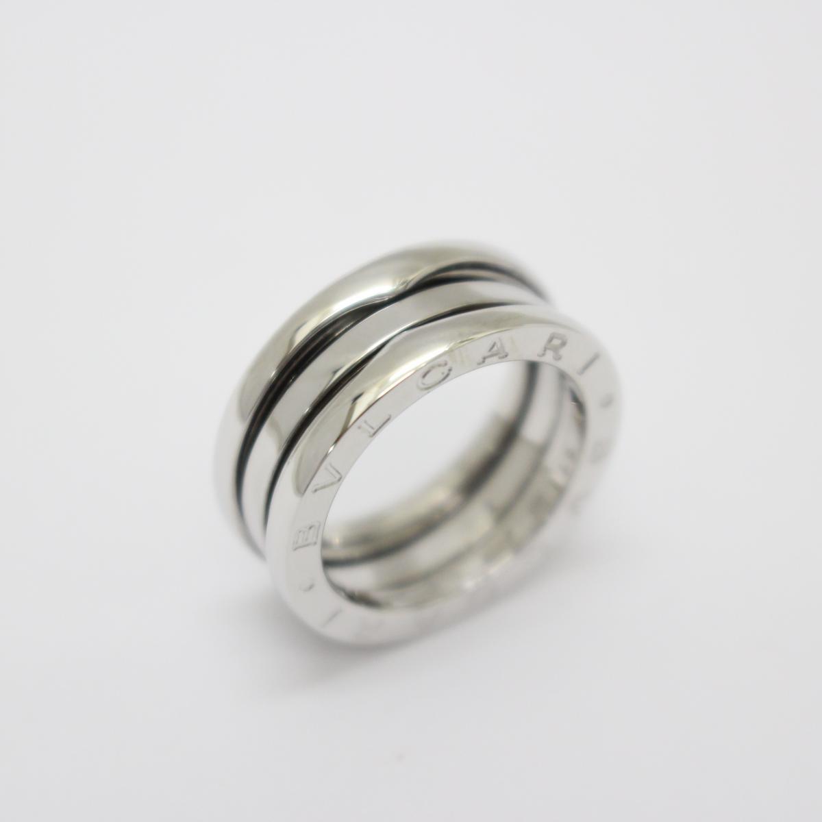 0cab25f0b566 中古】 ブルガリ B-zero1 リング Sサイズ 指輪 メンズ レディース K18WG ...