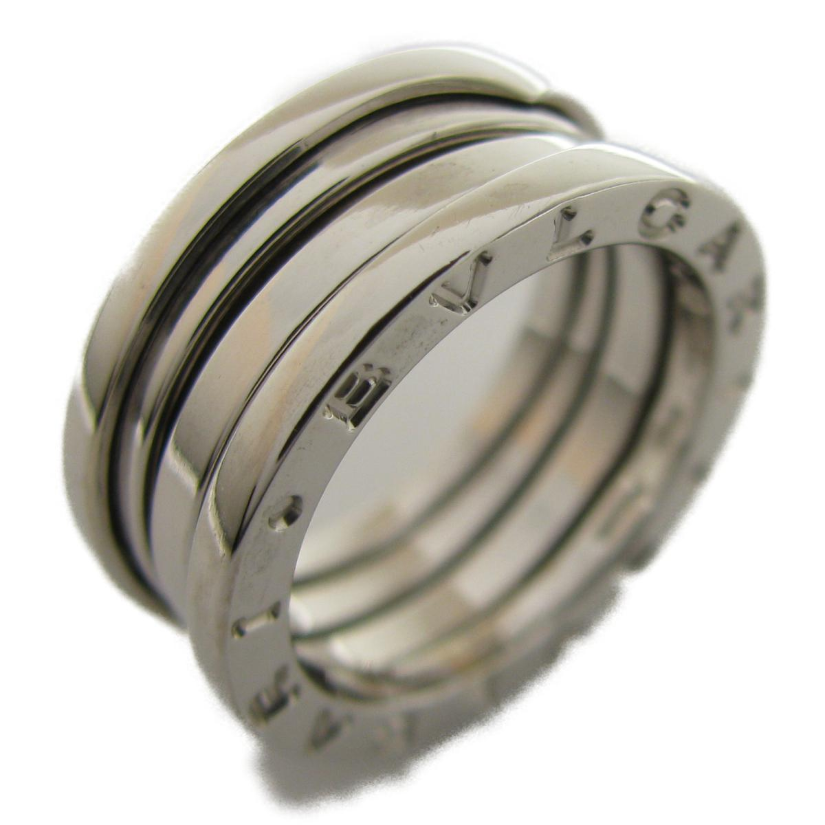 8b117ae95602 中古】 ブルガリ B-zero1 リング 指輪 Sサイズ メンズ レディース K18WG ...
