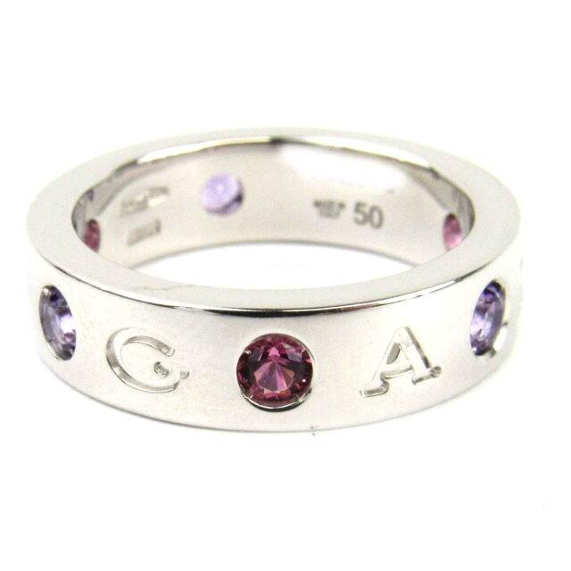 ローマンソルベリング ピンクトルマリン ダイヤモンド リング 指輪