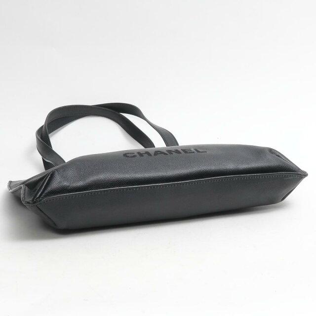 キャビアスキン ショルダートートバッグ