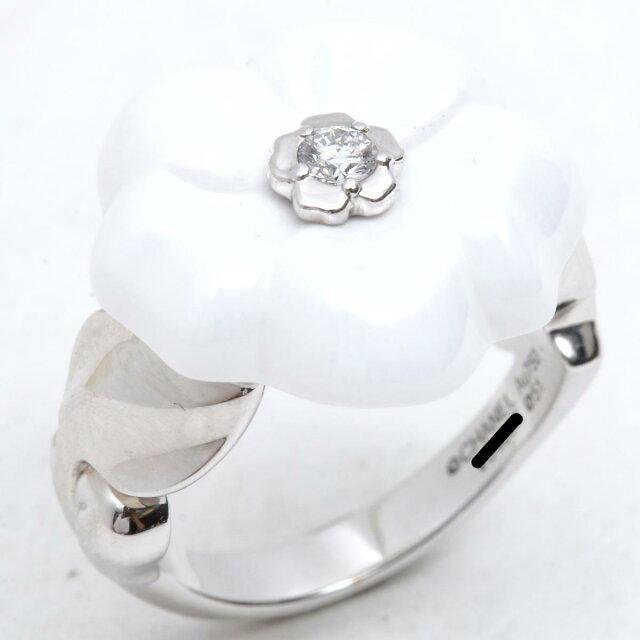 カメリアリング 1Pダイヤモンド 指輪