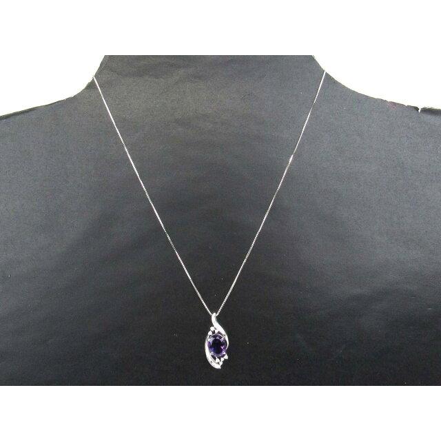 アメジスト ダイヤモンド ネックレス