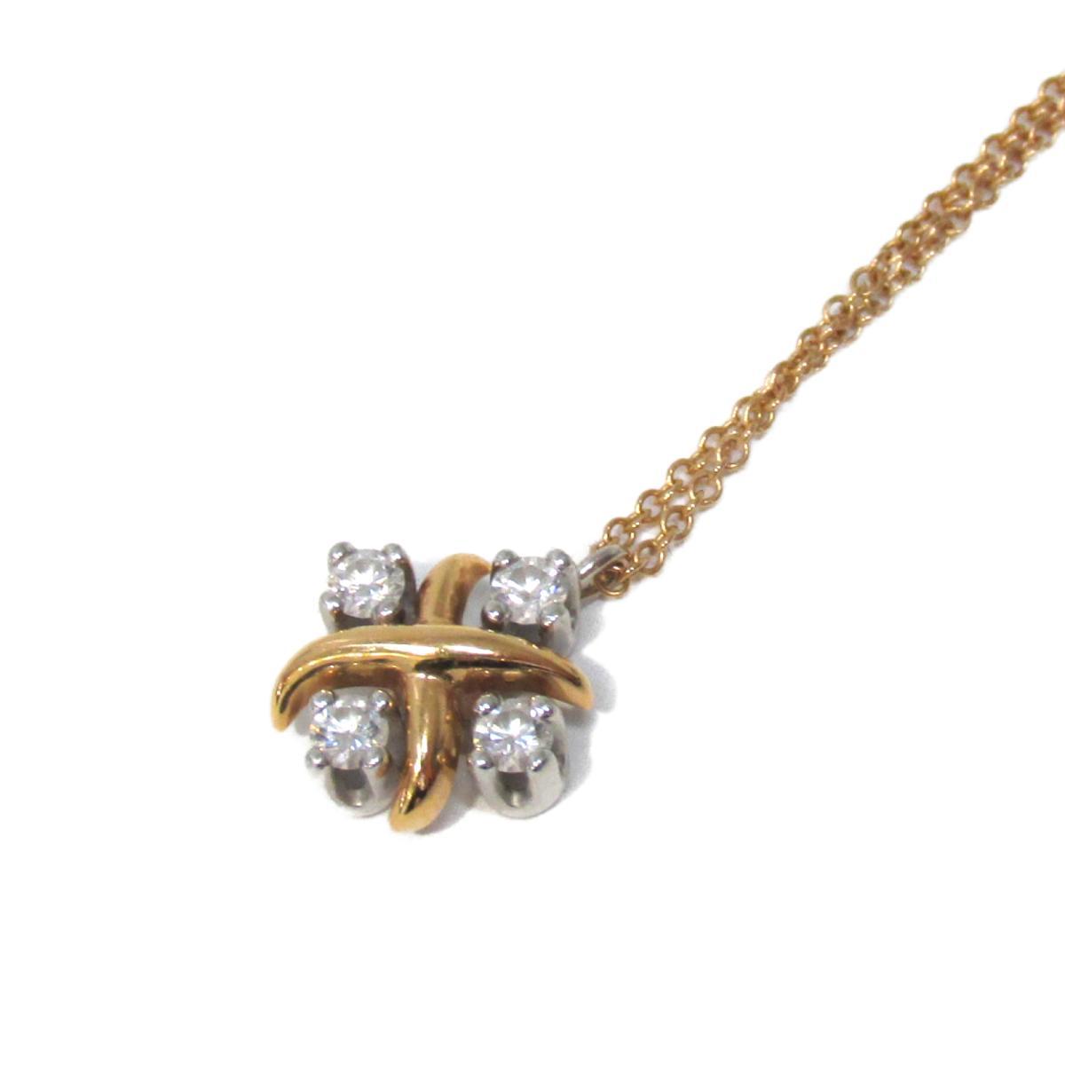 [Used] Tiffany & co Schlumbase Necklace Ladies K18PG (750) Pink Gold PT900 Diamond | TIFFANY&CO BRANDOFF Brand Off Brand Accessory Pendant