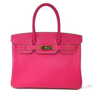 [二手] Hermes Burkin 30手提包女士Vaux Epson Rose Terian   HERMES BRANDOFF品牌折扣品牌品牌包品牌背包包背手提包手