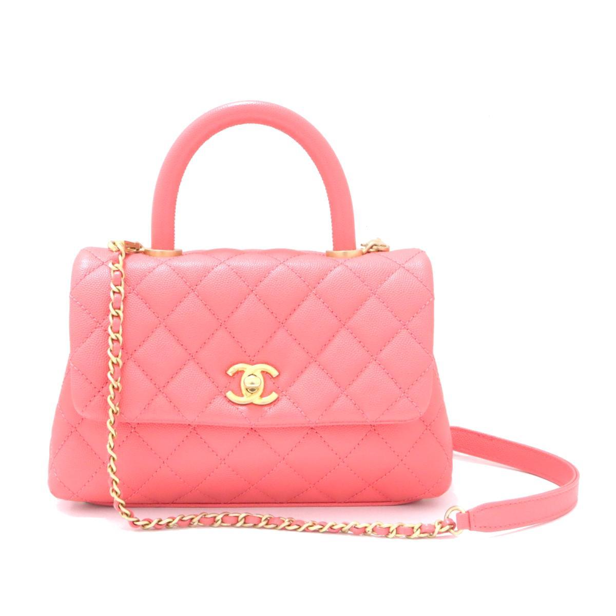 [Used] Chanel Shoulder Bag Ladies Caviar Skin Pink | CHANEL BRANDOFF Brand Off Brand Brand Bag Brand Back Bag Bag Back Shoulder Back Shoulder Shoulder