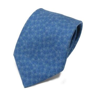 【中古】 エルメス シェーヌダンクル ネクタイ メンズ シルク ブルー (605107SA) | HERMES BRANDOFF ブランドオフ ブランド スーツ