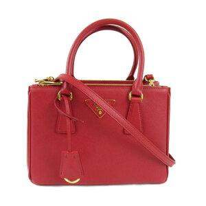 [USED] Prada Saffiano Shoulder Bag Ladies Saffiano Leather Red (1BA896) | PRADA BRANDOFF Brand Off Brand Brand Bag Bag Bag Bag Shoulder Shoulder