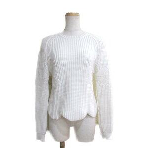 [二手]克里斯汀迪奥(Christian Dior)棉针织的女士65%棉35%尼龙白| Dior BRANDOFF品牌Off服装服装服装品牌上衣针织毛衣冬季秋季防寒