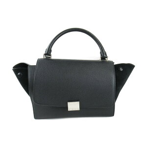 [Used] Celine Trapeze 2WAY Women's Leather x Suede Black | CELINE BRANDOFF Brand Off Brand Brand Bag Brand Bag Bag Bag Bag Shoulder Bag Shoulder Bag Shoulder Shoulder