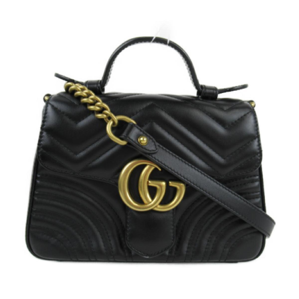 [二手货] Gucci迷你顶部链单肩包女士牛皮(小牛皮)黑色(547260)| GUCCI BRANDOFF品牌折扣品牌品牌包品牌背袋包背肩背肩肩