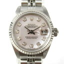 【中古】 ロレックス デイトジャスト 腕時計 ウォッチ レディース ステンレススチール (SS) x K18ホワイトゴールド ダイヤモンド シルバー (79174NG F番)   ROLEX BRANDOFF ブランドオフ ブランド ブランド時計 ブランド腕時計 時計