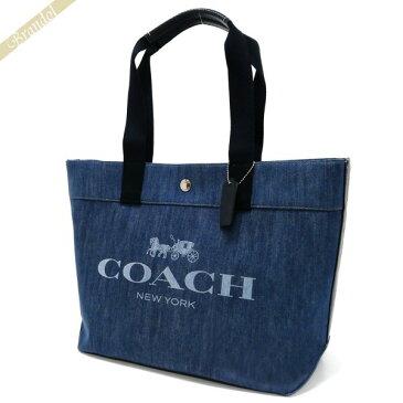 コーチ COACH レディース トートバッグ ロゴ キャンバス デニムトート ブルー系 F67415 SV/DE | コーチアウトレット コンビニ受取 ブランド