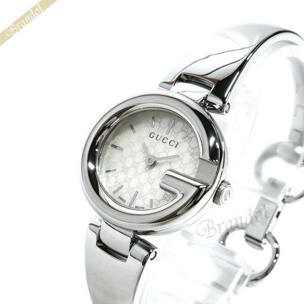 13407bc36372 レディース腕時計 YA109529 ブラウン×シルバー グッチ 時計 バングルウォッチ GUCCI 【ブランド】 Gライン