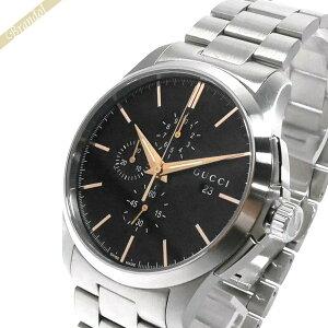 グッチ GUCCI メンズ腕時計 Gタイムレス G-Timeless Chronograph クロノグラフ 44mm ブラック×シルバー YA126272 | xcp2 ブランド