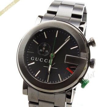 GUCCIグッチGクロノメンズ腕時計クロノグラフブラックYA101331