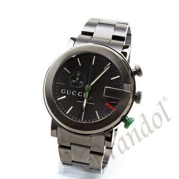 グッチGUCCI時計メンズ腕時計GクロノクロノグラフブラックYA101331