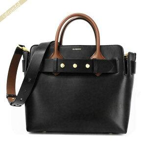 Burberry BURBERRY Ladies Shoulder Bag Leather Belt 2way Tote Bag Black x Brown 8021279 | Brand