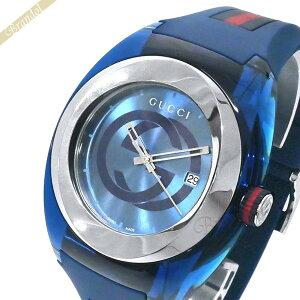 《最大900円クーポン_13日23:59迄》グッチ 腕時計 GUCCI メンズ SYNC グッチ GUCCI GUCCIシンク 46mm ブルー YA137104A | ブランド