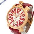 ガガミラノ メンズ 腕時計 マヌアーレ 18K PVD 48mm 手巻き ゴールド×レッド 5011.10S 【ブランド】