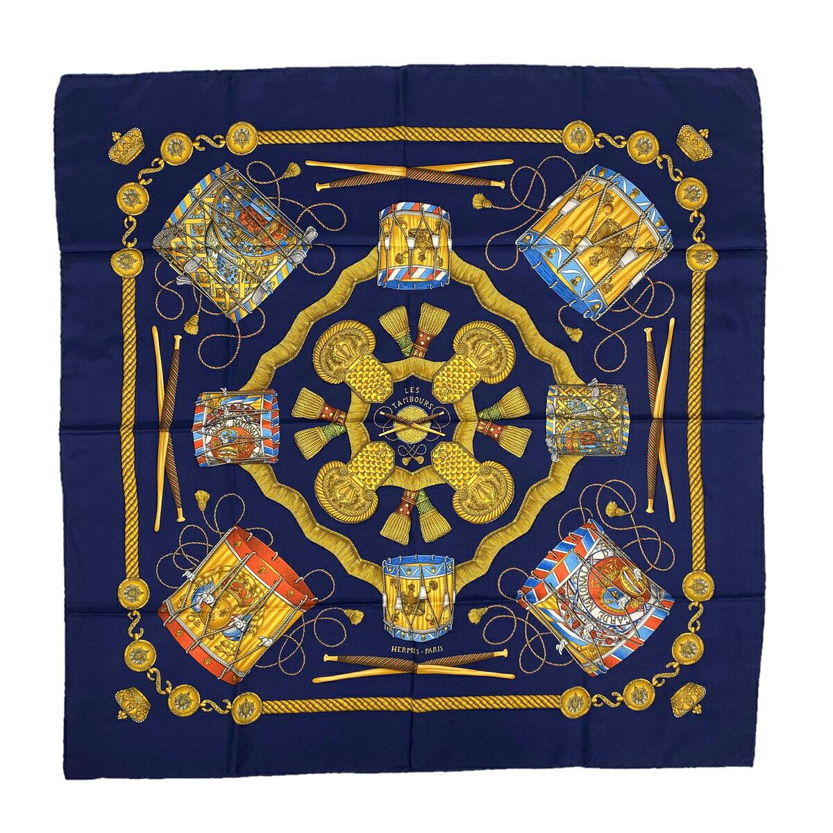 HERMES scarf 90 x 90 HERMES 90 LES TAMBOURS