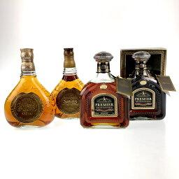 4本 ジョニーウォーカー JOHNNIE WALKER スコッチ 750ml ウイスキー セット 【中古】