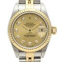 ロレックス ROLEX デイトジャスト 79173G 腕時計 SS YG 自動巻き ゴールド レディース 【中古】