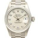 ロレックス ROLEX デイトジャスト 69179G 腕時計 WG ダイヤモンド 自動巻き シルバー レディース 【中古】