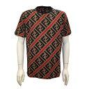 FENDI フェンディ メンズ 半袖Tシャツ ベージュ コットンTシャツ FY0894A7A8F13J8 2020ss