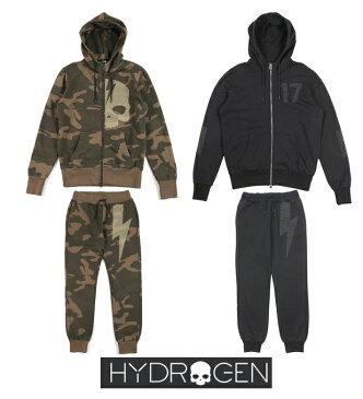【HYDROGEN】ハイドロゲン フルジップ スウェット×パンツ 上下セット スタッズ 全2色 230114/230116